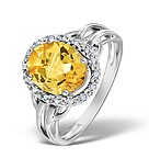 CITRINE 2.44CT AND DIAMOND 9K WHITE GOLD RING