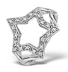 DIAMOND 0.20CT 9K WHITE GOLD STAR RING