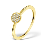 0.30CT DIAMOND AND 9K GOLD DAISY RING -  E5800