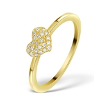0.36CT DIAMOND AND 9K GOLD DAISY RING -  E5813