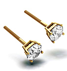 5.1mm 18K Gold Diamond Stud Earrings - 1CT - F-G/VS