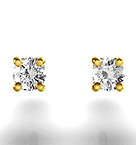 3mm 18K Gold Diamond Stud Earrings - 0.20CT - G-H/SI