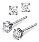 4.1MM 18K WHITE GOLD DIAMOND STUD EARRINGS - 0.50CT - F-G/VS