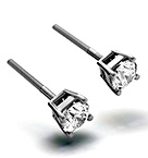 4.5mm 18K White Gold Diamond Stud Earrings - 0.66CT - F-G/VS