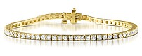 Chloe 18K Gold Diamond Tennis Bracelet 4.00CT PK