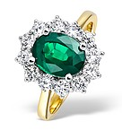 18K Gold 1.00CT Diamond and 1.95CT Emerald Ring