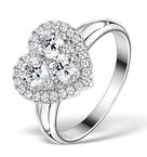 1.20ct Diamond and 18K White Gold Galileo Ring FT70
