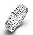 Eternity Ring  LUCY 18K White Gold DIAMOND 1.00CT H/SI