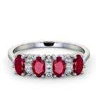 Ruby 1.12ct And Diamond 9K White Gold Ring