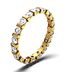 HANNAH 18K GOLD DIAMOND FULL ETERNITY RING 1.00CT H/SI