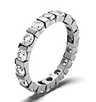 HANNAH 18K WHITE GOLD DIAMOND FULL ETERNITY RING 3.00CT H/SI