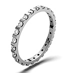 HANNAH 18K WHITE GOLD DIAMOND FULL ETERNITY RING 0.50CT G/VS