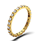 HANNAH 18K Gold DIAMOND FULL ETERNITY RING 0.50CT G/VS