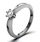 High Set Chloe 18K White Gold Diamond Solitaire Ring 0.25CT-G-H/SI