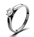 Certified 0.25CT Chloe Low 18K White Gold Engagement Ring H/I PK