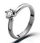 Lily 18K White Gold Diamond Ring 0.25CT-H-I/I1
