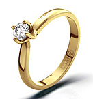 Lily 18K Gold Diamond Ring 0.25CT-G-H/SI
