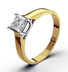 Lucy 18K Gold Diamond Engagement Ring 0.75CT-F-G/VS