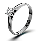 PETRA 18K WHITE GOLD DIAMOND ENGAGEMENT RING 0.25CT G-H/SI