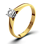 PETRA 18K GOLD DIAMOND ENGAGEMENT RING 0.25CT-H-I/I1