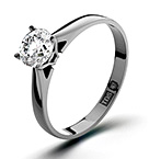 Certified 0.90CT Petra Platinum Engagement Ring H/SI2