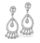 Chandelier Earrings 0.33CT Diamond 9K White Gold
