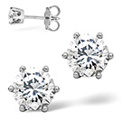 G/VS DIAMOND STUD EARRINGS 1.00CT DIAMOND 18KW
