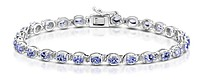 AA Tanzanite 4.71ct and 925 Silver Bracelet