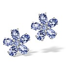 925 STERLING SILVER AND 1.88 CARATS AA TANZANITE EARRINGS