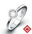 EMILY 18K WHITE GOLD CANADIAN DIAMOND RING 0.50CT H/SI1