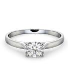 Certified Grace 18K White Gold Diamond Engagement Ring 0.50CT