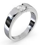 Certified Jessica 18K White Gold Diamond Engagement Ring 0.50CT
