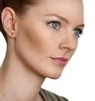 Ruby 3 x 3mm 9K Yellow Gold Earrings