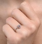 Ruby 4 x 3mm And Diamond 9K White Gold Ring